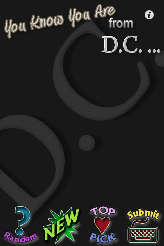 Screenshot You Know You Are from D.C. lite